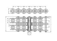 Lant 08B-2 Retezy Vamberk 5m